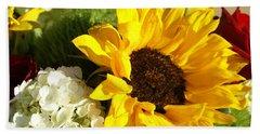 Flower Bouquet Beach Sheet