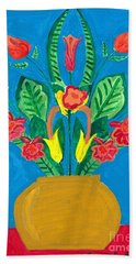 Flower Bowl Beach Sheet by Margie-Lee Rodriguez