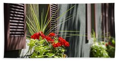 Beach Towel featuring the photograph Flower Box by Andrea Silies