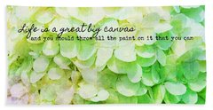 Flower Box Quote Beach Sheet