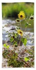 Flower By Stream Beach Sheet