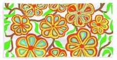Flower Carnival Beach Towel