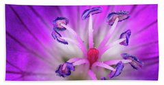 Flower Color Explosion Beach Sheet by Brian Caldwell