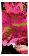 Flower Euphoria Magenta Pink Beach Towel