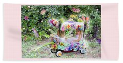 Flower Fairies In A Flower Mobile Beach Towel