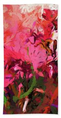 Flower Flames Soul Pink Beach Towel