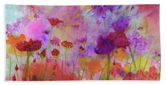 Flower Frenzy  Beach Towel