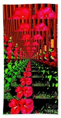 Flower Garden Abstract Beach Towel by Marsha Heiken