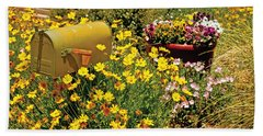 Flower Garden Albuquerque Nm Beach Towel