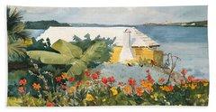 Flower Garden And Bungalow Beach Sheet