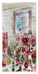 Flower Garden Beach Towel