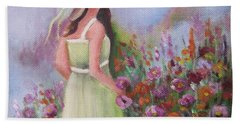 Flower Garden Beach Towel by Vesna Martinjak