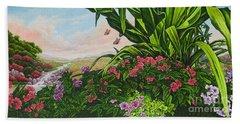 Flower Garden Vii Beach Towel