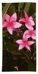 Beach Towel featuring the digital art Flower Gems by Winsome Gunning