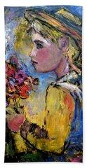 flower girl Manet Beach Sheet
