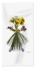 Beach Towel featuring the digital art Flower Head by Lise Winne