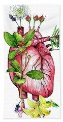 Flower Heart Beach Sheet
