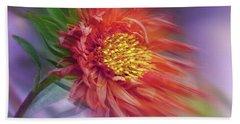 Flower In The Wind Beach Sheet
