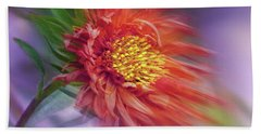 Flower In The Wind Beach Sheet by Nina Bradica