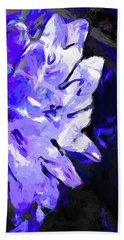 Flower Lavender Lilac Blue Beach Towel