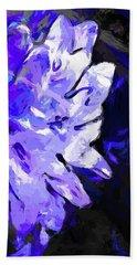 Flower Lavender Lilac Blue Beach Sheet