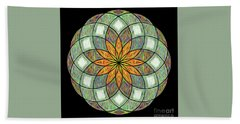 Beach Sheet featuring the digital art Flower Mandala Painted By Kaye Menner by Kaye Menner