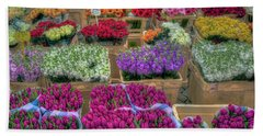 Flower Market Beach Towel
