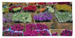 Flower Market Beach Sheet