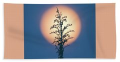 Flower Moon May 2017 Square Beach Towel by Terry DeLuco