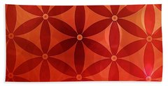 Flower Of Life  Beach Towel by Serena King