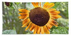 Beach Towel featuring the photograph Flower Of The Sun by Larry Bishop