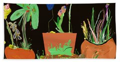 Flower Pot Panel Beach Towel