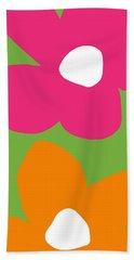 Flower Power 1- Art By Linda Woods Beach Towel