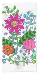 Flower Power 3 Beach Towel