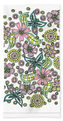 Flower Power 5 Beach Towel