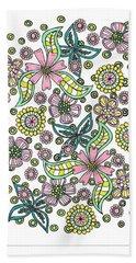 Flower Power 5 Beach Sheet