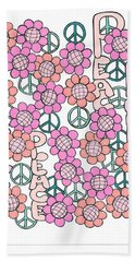 Flower Power 8 Beach Towel