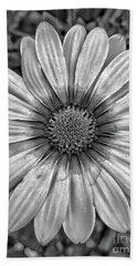 Flower Power - Bw Beach Sheet
