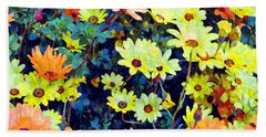 Beach Towel featuring the photograph Flower Power by Glenn McCarthy Art and Photography