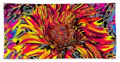 Flower Power II Beach Towel