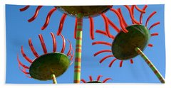 Beach Towel featuring the photograph Flower Power by Jani Freimann