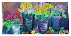 Flower Shop Beach Sheet
