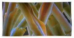 Flower Stems Beach Towel