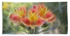 Flower Streaks Beach Towel