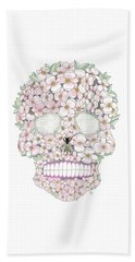 Flower Sugar Skull Beach Towel