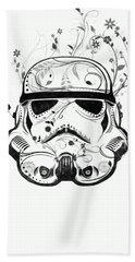 Flower Trooper Beach Sheet by Nicklas Gustafsson