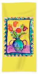 Flower Vase Beach Towel