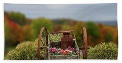 Flower Wagon Beach Sheet
