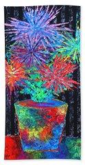 Flower-works Plant Beach Towel by Jeremy Aiyadurai