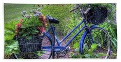 Flowered Bicycle Beach Towel